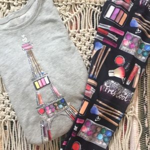 JUSTICE Sweater & Legging Make-up in Paris Set